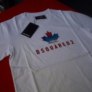 DSQUARED MAN COLOR WHITE SHORT SLEEVE TSHIRT